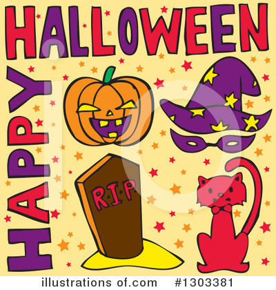 Halloween Clipart #1303381 by Cherie Reve