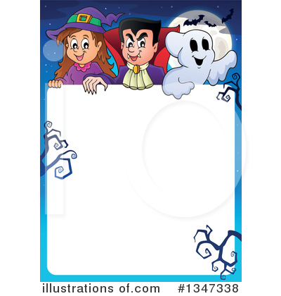 Royalty-Free (RF) Halloween Clipart Illustration by visekart - Stock Sample #1347338