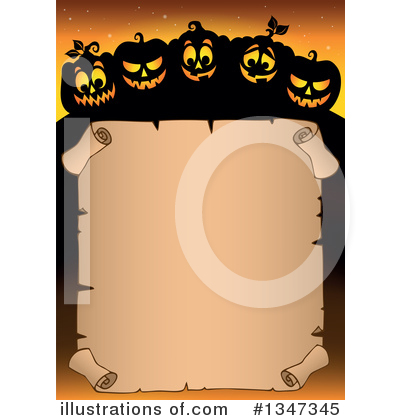 Halloween Pumpkins Clipart #1347345 by visekart