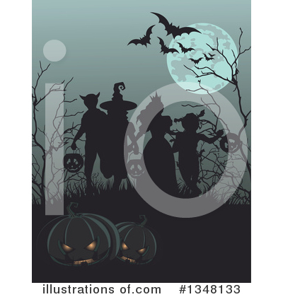 Halloween Clipart #1348133 by Pushkin