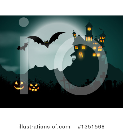 Halloween Pumpkins Clipart #1351568 by KJ Pargeter