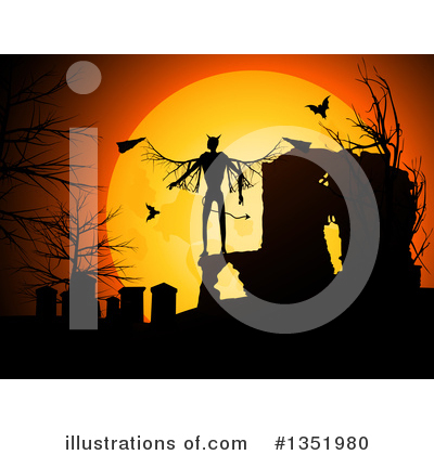 Halloween Clipart #1351980 by elaineitalia
