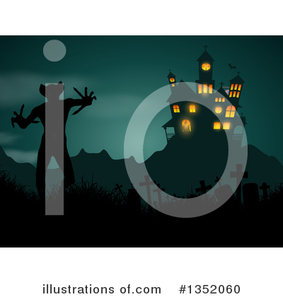 Haunted Castle Clipart #1352060 by KJ Pargeter