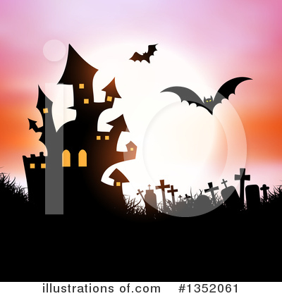 Haunted Castle Clipart #1352061 by KJ Pargeter