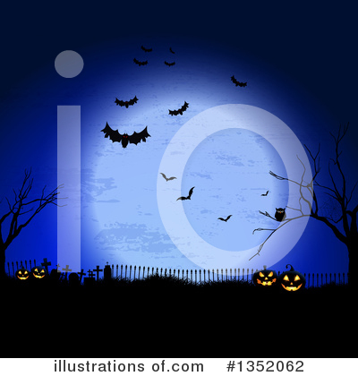 Halloween Pumpkins Clipart #1352062 by KJ Pargeter
