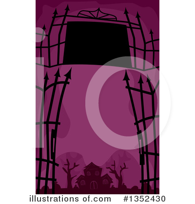 Cemetery Clipart #1352430 by BNP Design Studio
