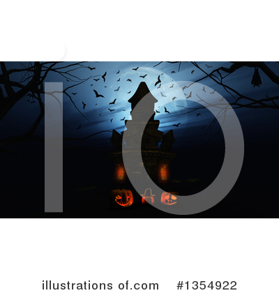 Haunted Castle Clipart #1354922 by KJ Pargeter
