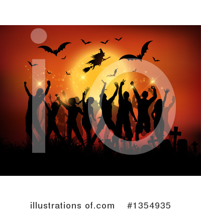 Halloween Party Clipart #1354935 by KJ Pargeter
