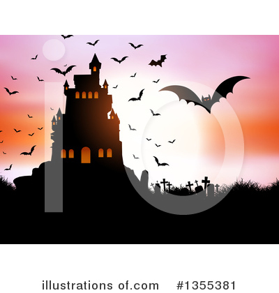 Haunted Castle Clipart #1355381 by KJ Pargeter