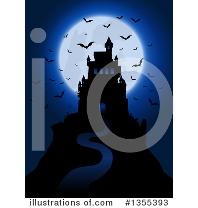 Haunted Castle Clipart #1355393 by KJ Pargeter