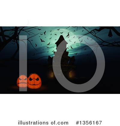 Haunted Castle Clipart #1356167 by KJ Pargeter