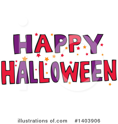 Halloween Clipart #1403906 by Cherie Reve