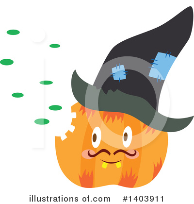 Halloween Clipart #1403911 by Cherie Reve