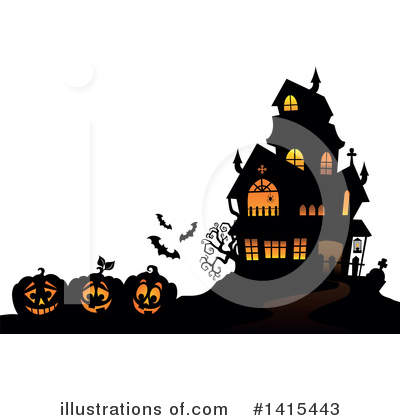 Halloween Pumpkins Clipart #1415443 by visekart