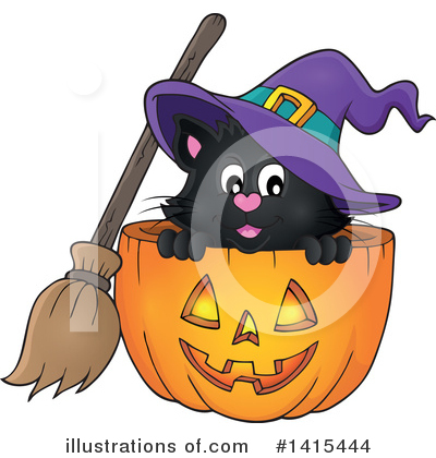Halloween Pumpkins Clipart #1415444 by visekart