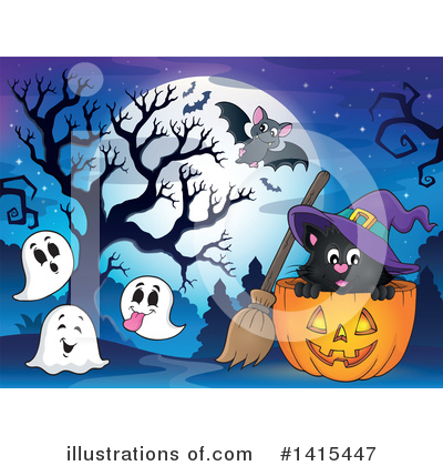 Royalty-Free (RF) Halloween Clipart Illustration by visekart - Stock Sample #1415447