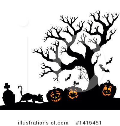 Halloween Pumpkins Clipart #1415451 by visekart