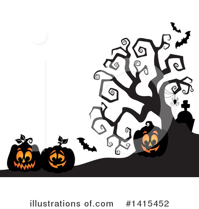 Halloween Pumpkins Clipart #1415452 by visekart