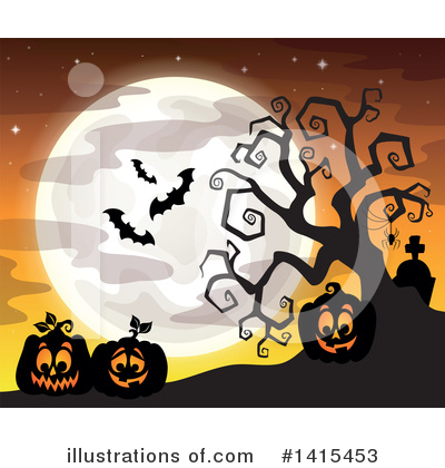 Royalty-Free (RF) Halloween Clipart Illustration by visekart - Stock Sample #1415453
