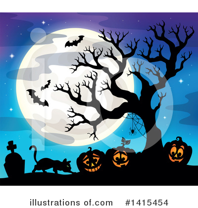 Royalty-Free (RF) Halloween Clipart Illustration by visekart - Stock Sample #1415454