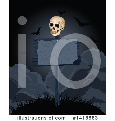 Skull Clipart #1418883 by Pushkin
