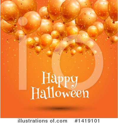 Party Balloons Clipart #1419101 by KJ Pargeter