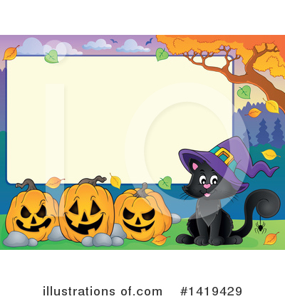 Royalty-Free (RF) Halloween Clipart Illustration by visekart - Stock Sample #1419429