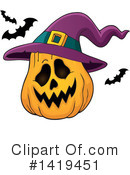 Halloween Clipart #1419451 by visekart