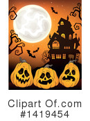 Halloween Clipart #1419454 by visekart