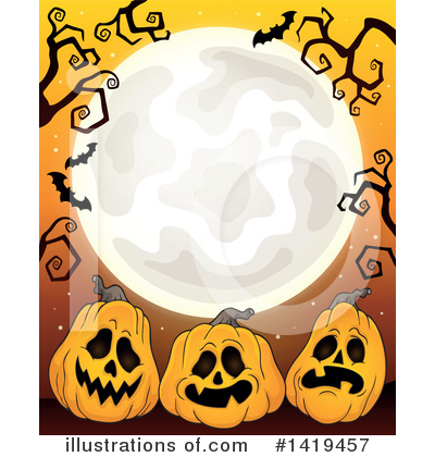 Royalty-Free (RF) Halloween Clipart Illustration by visekart - Stock Sample #1419457