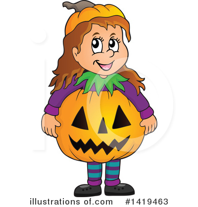 Halloween Pumpkins Clipart #1419463 by visekart