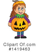 Halloween Clipart #1419463 by visekart