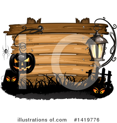 Royalty-Free (RF) Halloween Clipart Illustration by merlinul - Stock Sample #1419776