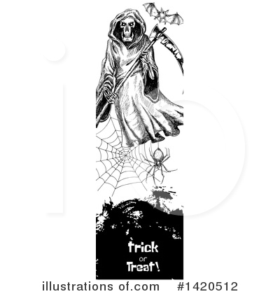 Grim Reaper Clipart #1420512 by Vector Tradition SM