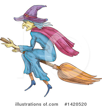 Witch Clipart #1420520 by Vector Tradition SM