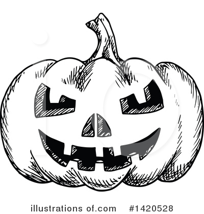 Pumpkin Clipart #1420528 by Vector Tradition SM