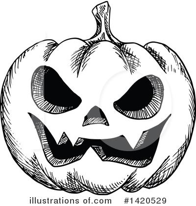 Pumpkin Clipart #1420529 by Vector Tradition SM
