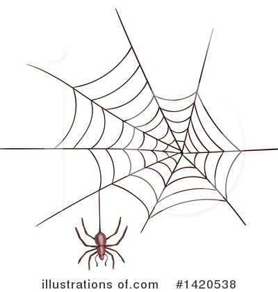 Spider Clipart #1420538 by Vector Tradition SM