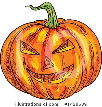 Pumpkin Clipart #1420539 by Vector Tradition SM