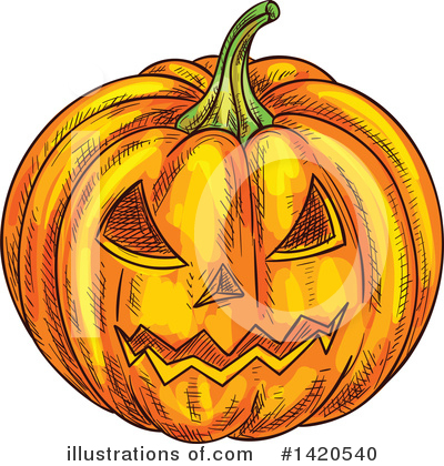 Pumpkin Clipart #1420540 by Vector Tradition SM