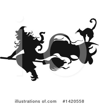Witch Clipart #1420558 by Vector Tradition SM