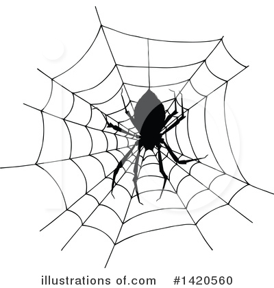 Spider Clipart #1420560 by Vector Tradition SM
