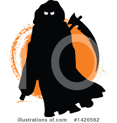 Grim Reaper Clipart #1420562 by Vector Tradition SM