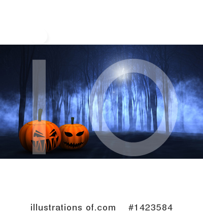 Royalty-Free (RF) Halloween Clipart Illustration by KJ Pargeter - Stock Sample #1423584