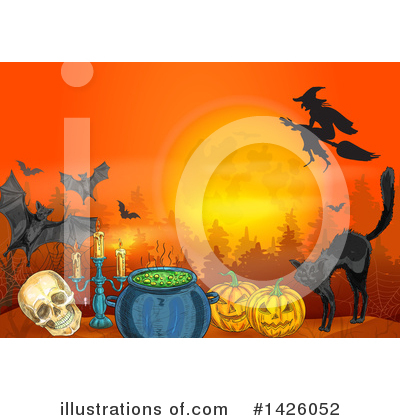 Royalty-Free (RF) Halloween Clipart Illustration by Vector Tradition SM - Stock Sample #1426052