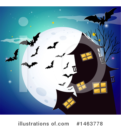 Haunted House Clipart #1463778 by Graphics RF