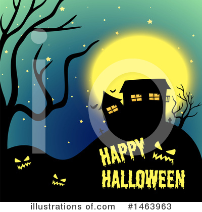 Haunted House Clipart #1463963 by Graphics RF