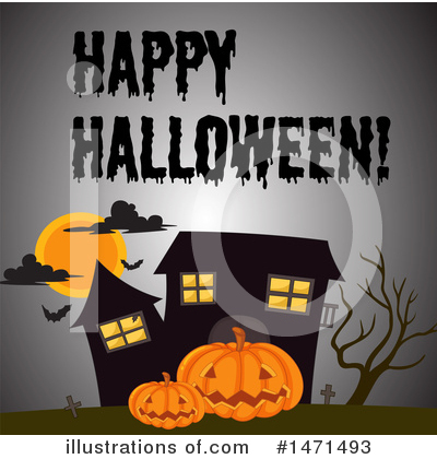 Haunted House Clipart #1471493 by Graphics RF