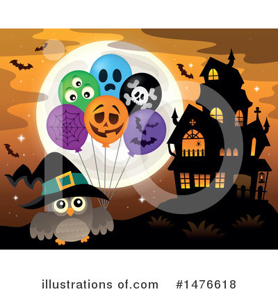 Haunted House Clipart #1476618 by visekart
