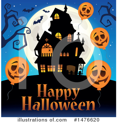 Haunted House Clipart #1476620 by visekart